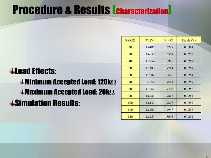 Procedure & Results