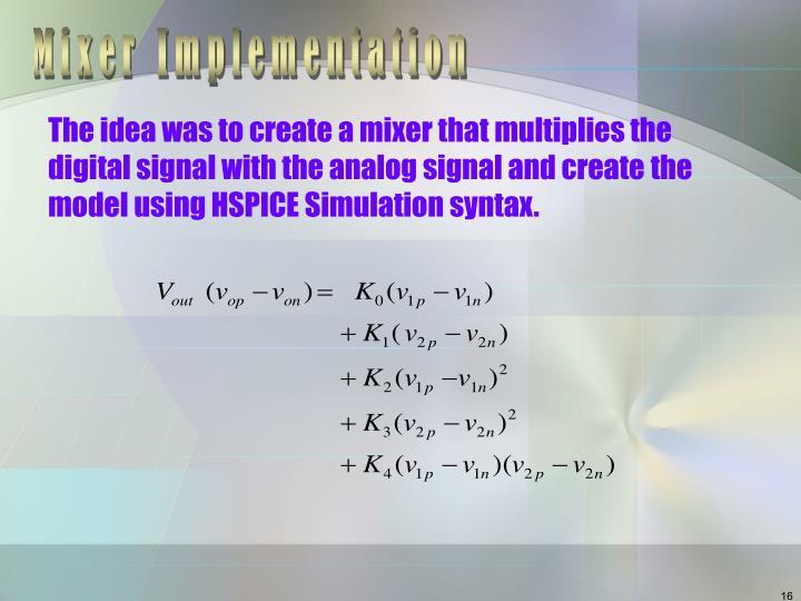 Mixer Implementation