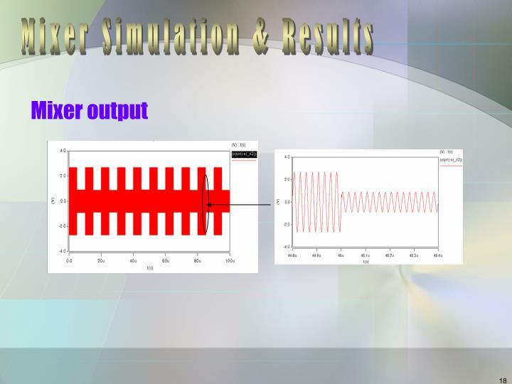 Mixer Simulation & Results