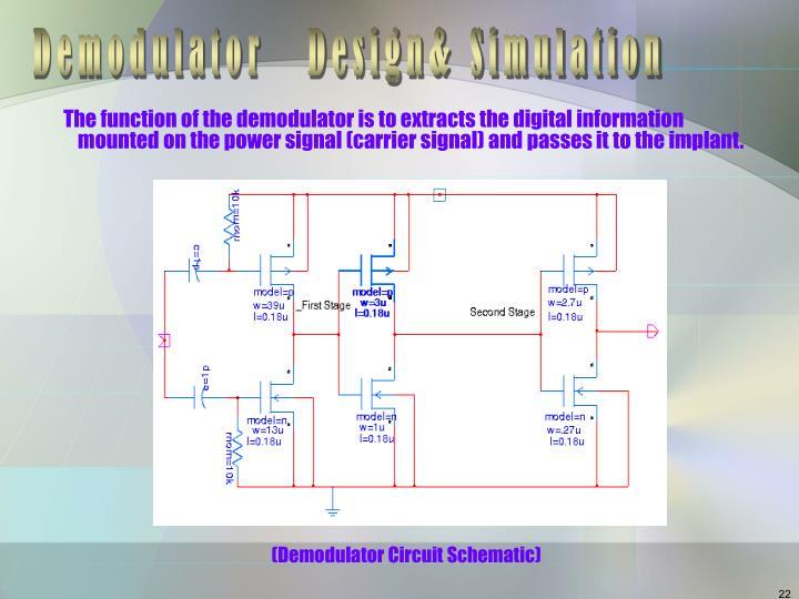(Demodulator Circuit Schematic)