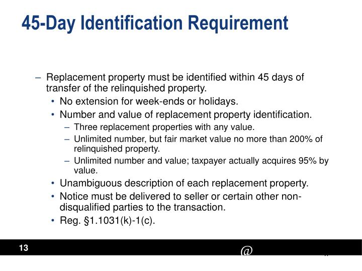 45-Day Identification Requirement
