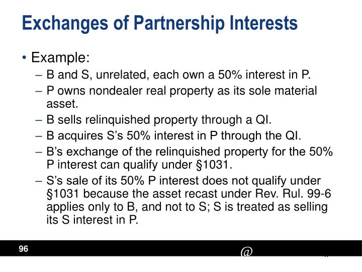 Exchanges of Partnership Interests
