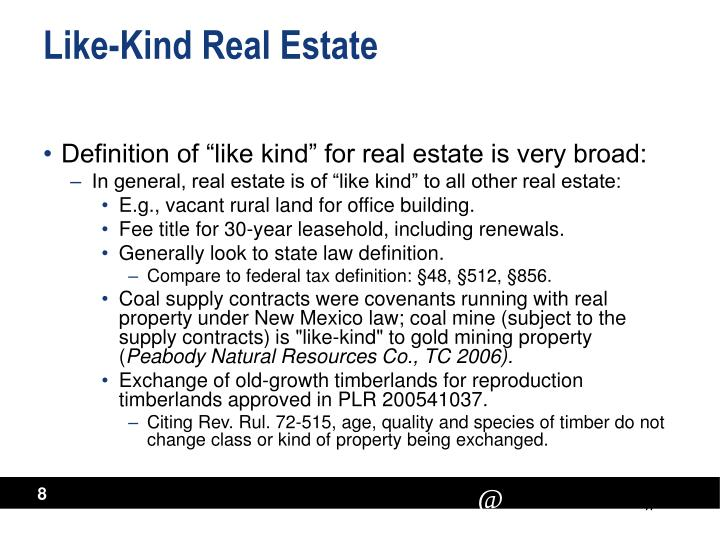 Like-Kind Real Estate
