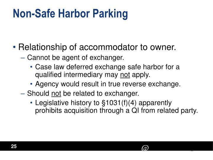 Non-Safe Harbor Parking