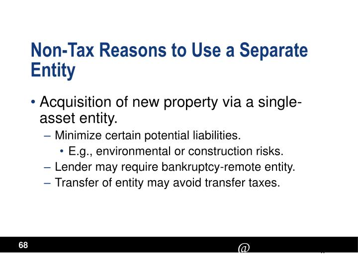 Non-Tax Reasons to Use a Separate Entity