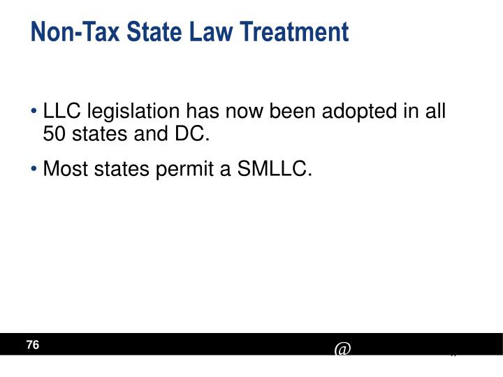 Non-Tax State Law Treatment