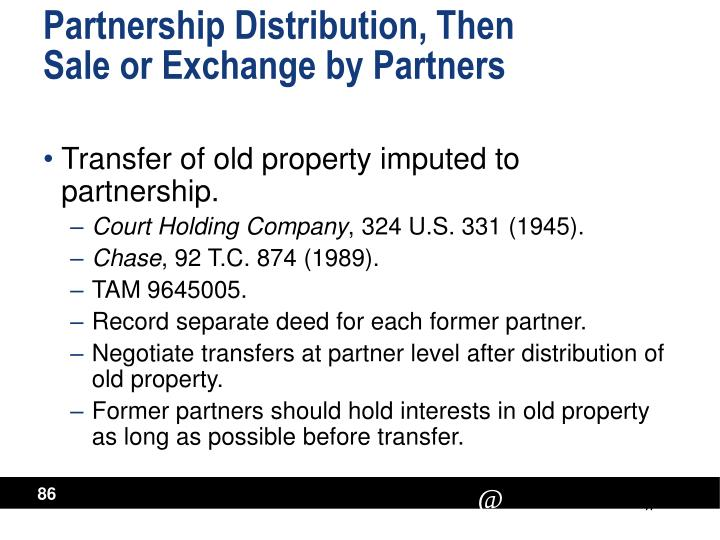 Partnership Distribution, Then