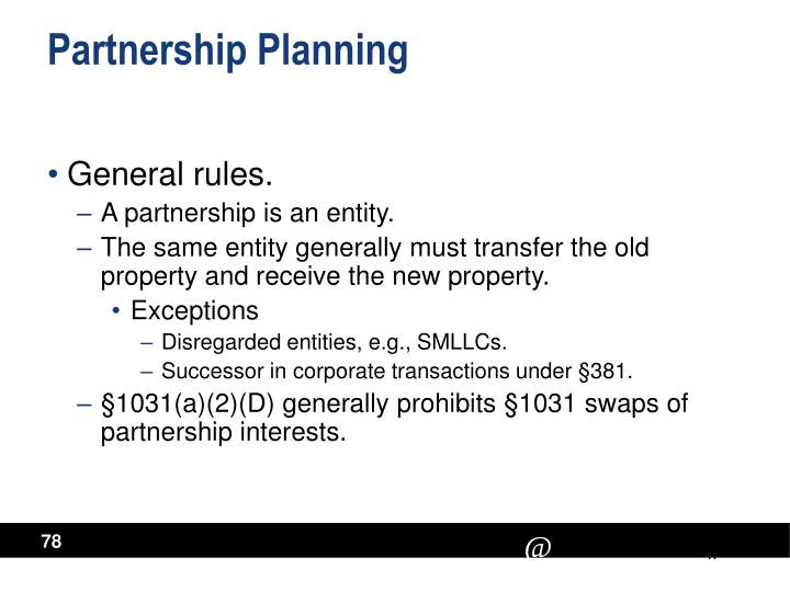Partnership Planning