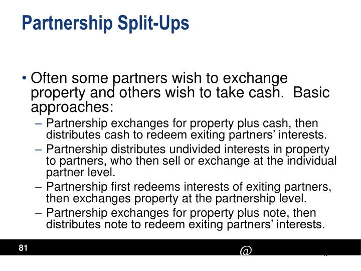 Partnership Split-Ups