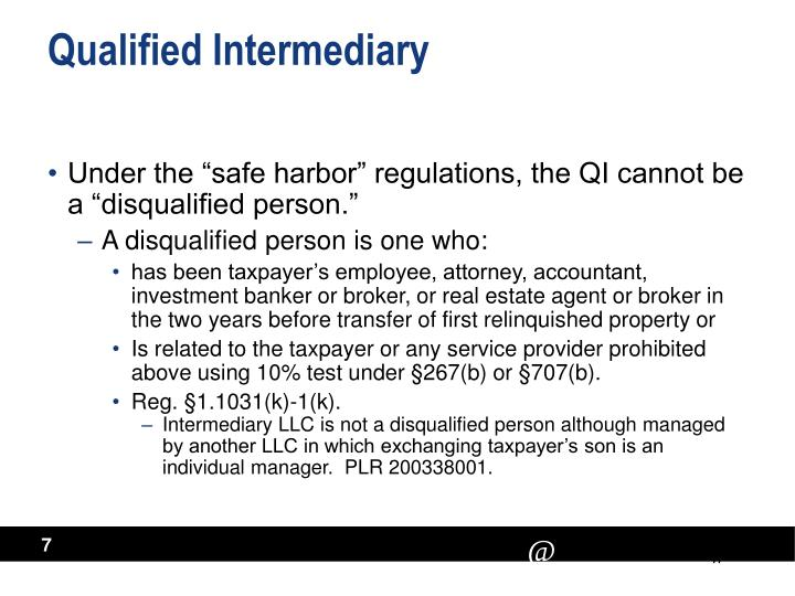 Qualified Intermediary