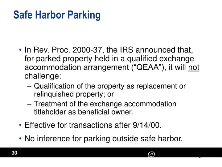 Safe Harbor Parking
