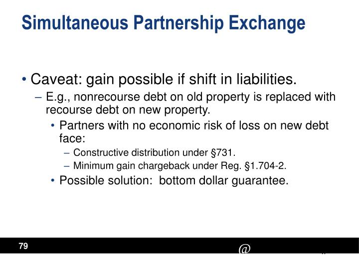 Simultaneous Partnership Exchange