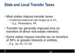 state and local transfer taxes