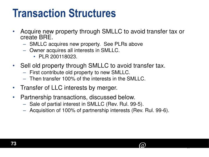 Transaction Structures