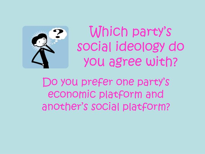 Which party's social ideology do you agree with?