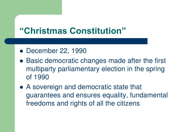 """Christmas Constitution"""