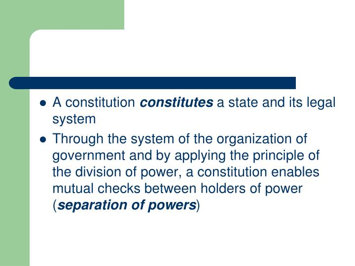 A constitution