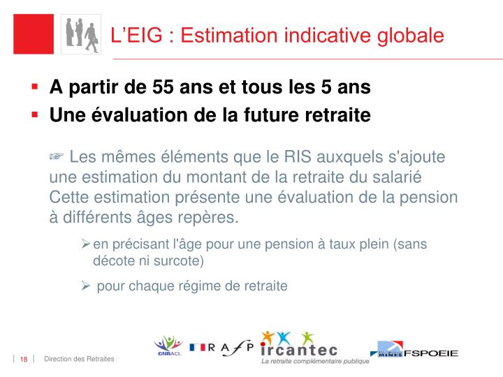 L'EIG : Estimation indicative globale