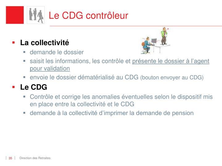 Le CDG contrôleur