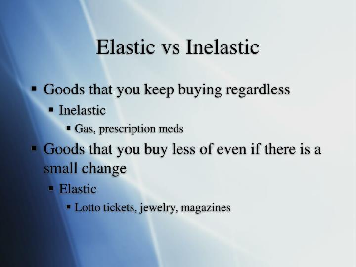 Elastic vs Inelastic