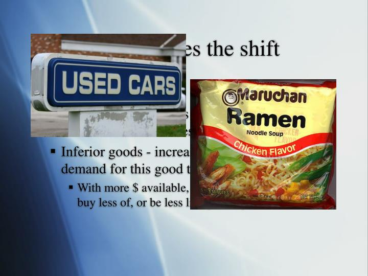 What causes the shift
