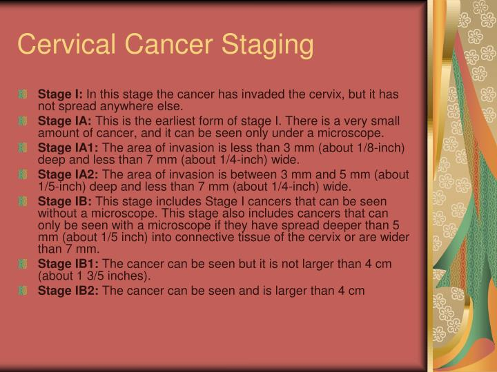 Cervical Cancer Staging