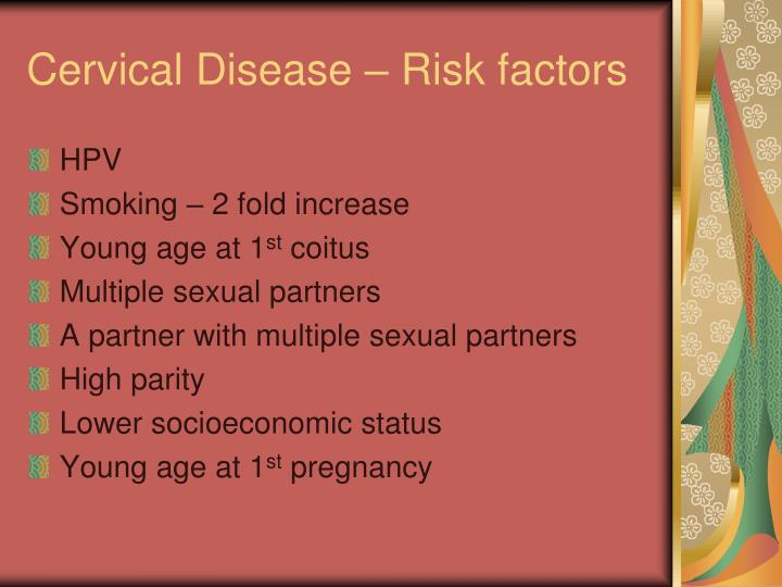 Cervical disease risk factors