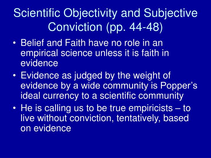 objectivity and subjectivity in science
