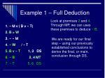 example 1 full deduction