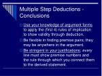 multiple step deductions conclusions
