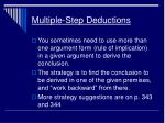 multiple step deductions