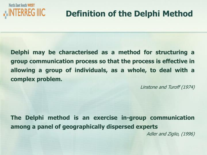 Definition of the delphi method