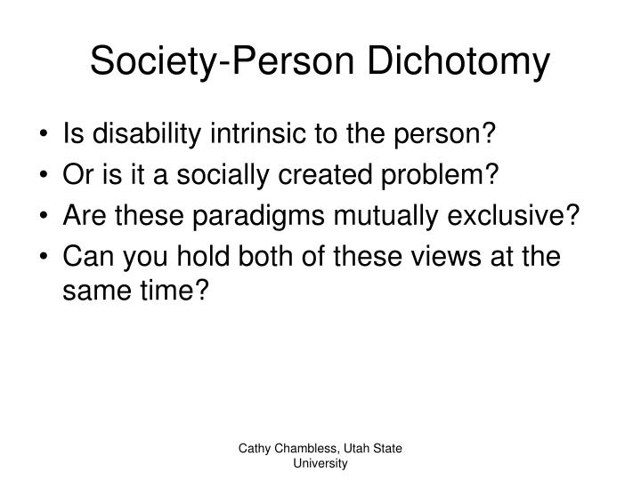 Society-Person Dichotomy