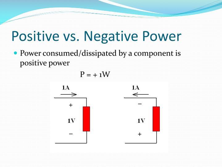 Positive vs. Negative Power