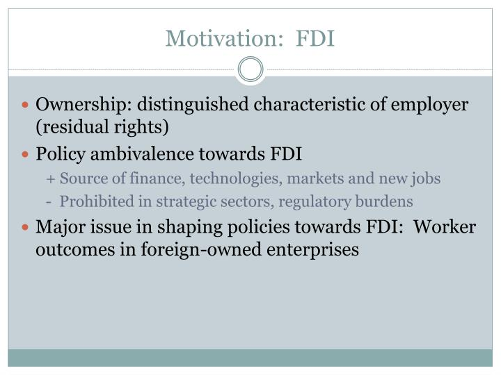 Motivation fdi