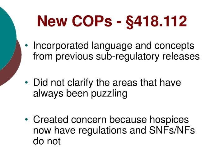 New COPs -
