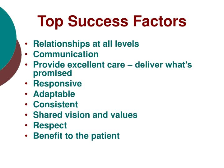 Top Success Factors