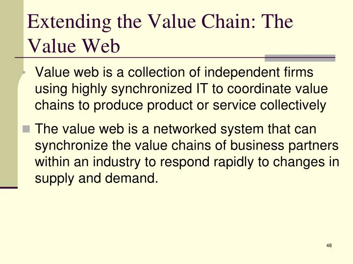 Extending the Value Chain: The Value Web