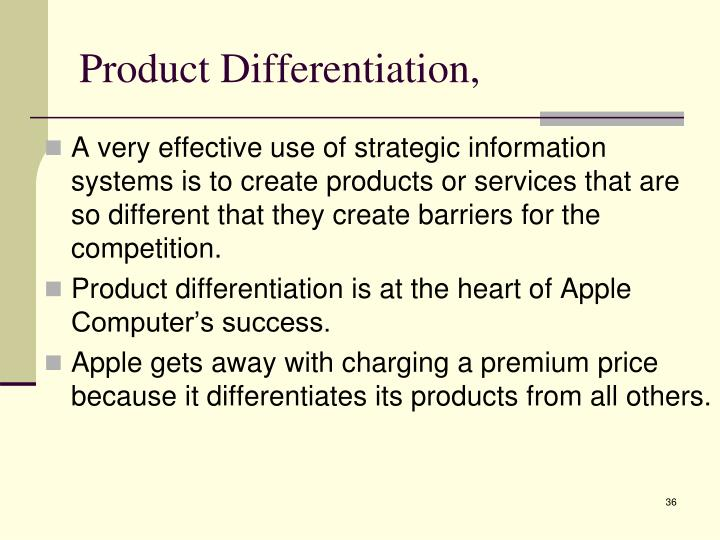 Product Differentiation,