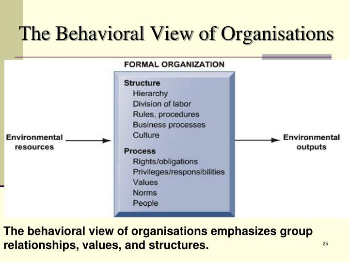 The Behavioral View of