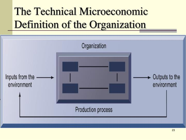 The Technical Microeconomic