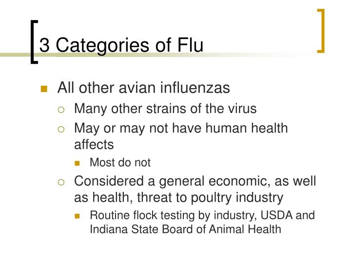 3 Categories of Flu