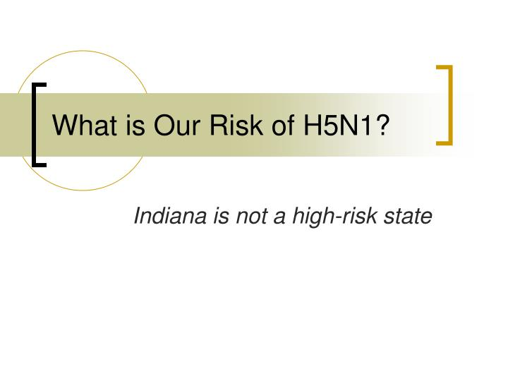What is Our Risk of H5N1?