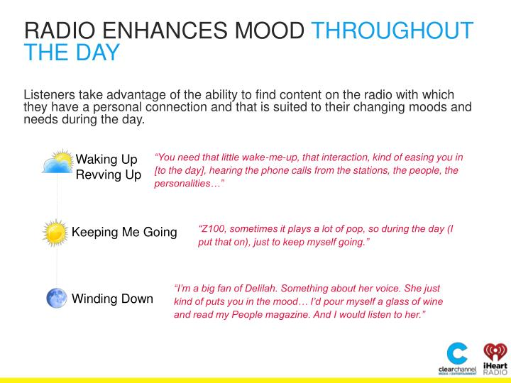RADIO ENHANCES MOOD