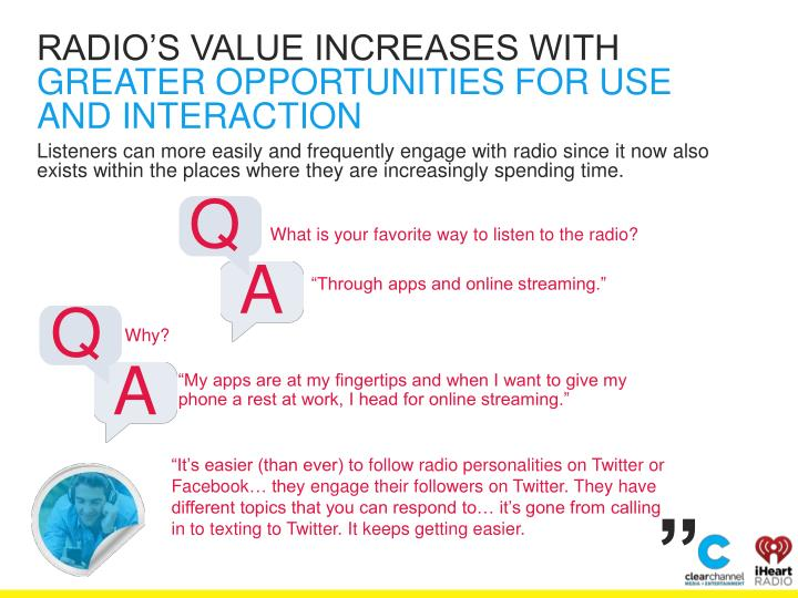 RADIO'S VALUE INCREASES WITH