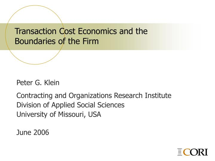 transaction cost economics and organized labor essay