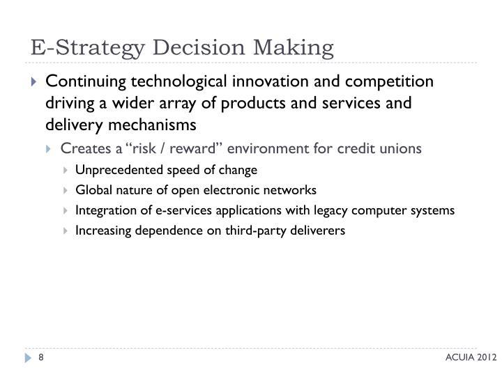E-Strategy Decision Making