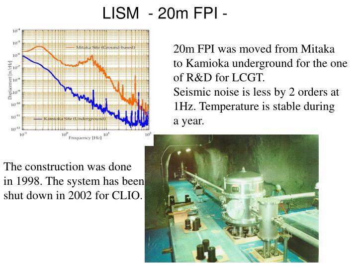 LISM  - 20m FPI -