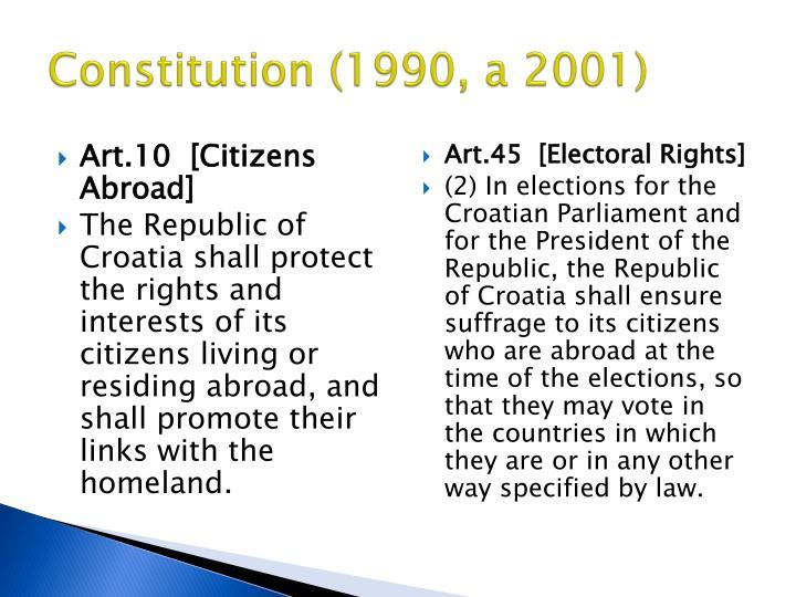 Constitution (1990, a 2001)