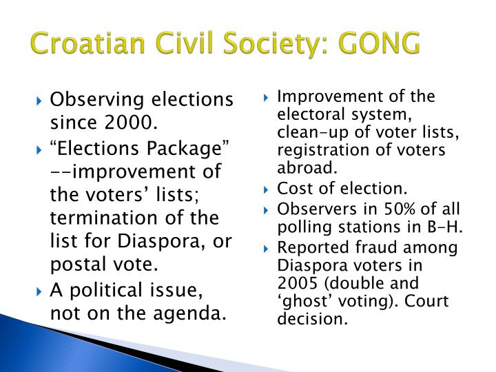 Croatian Civil Society: GONG